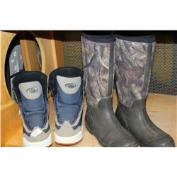 RED HEAD SIZE 9 BOOTS AND SIZE 8 SNOWBOARD BOOTS