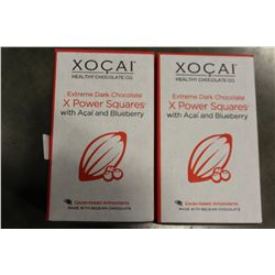 TWO BOXES OF XOCAI CHOCOLAE SQUARES