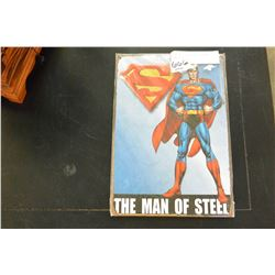 NEW 8X12 TIN SIGN, SUPERMAN, MAN OF STEEL