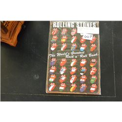 NEW 8X12 TIN SIGN, ROLLING STONES