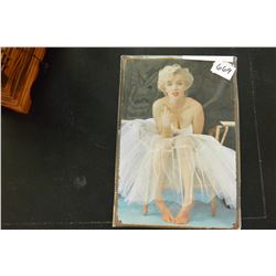 NEW 8 INCH BY 12 INCH TIN MARILYN SIGN