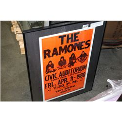 THE RAMONES FRAMED ADVERT