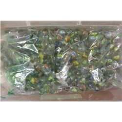 SMALL TOTE OF MARBLES