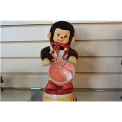 MOTORIZED MONKEY DRUMMER TOY