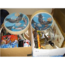 TWO BOXES OF COLLECTIBLES AND ESTATE GOODS