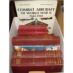 CRATE OF HARDCOVER WAR BOOKS