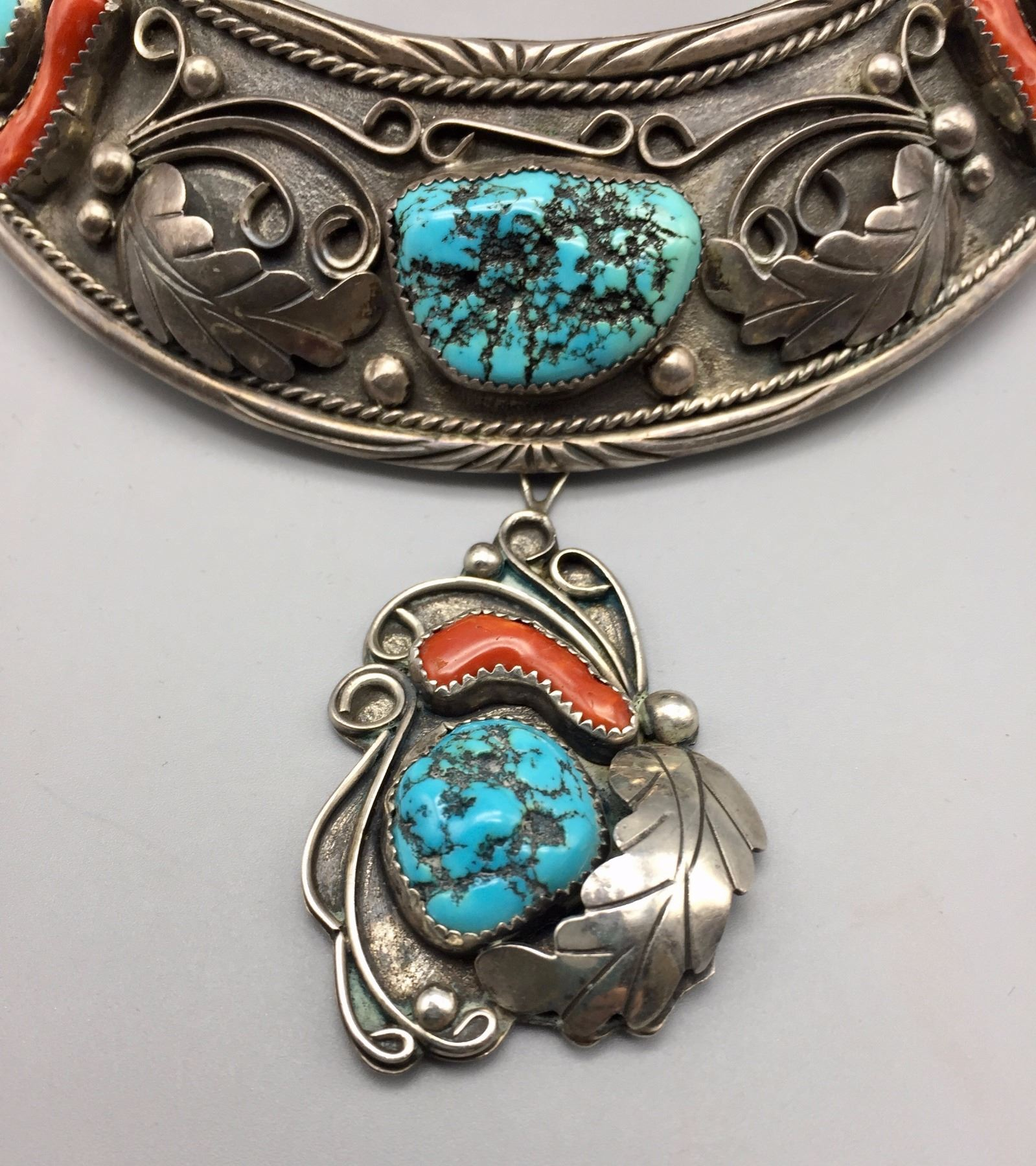 carico lorena img by nez lake color pendant products turquoise jewelry traditional mutli silver navajo sterling