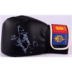 "Manny Pacquiao Signed Black Boxing Glove Inscribed ""Pacman"" (Pacquiao COA)"