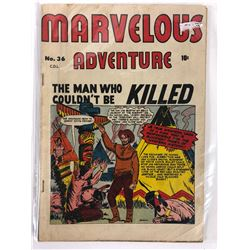 MARVELOUS ADVENTURE #36 (THE MAN WHO COULDN'T BE KILLED)