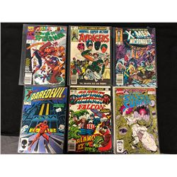 MARVEL COMIC BOOK LOT (SPIDER-MAN, AVENGERS, DAREDEVIL, CAPTAIN AMERICA, X-MEN, SILVER SURFER)