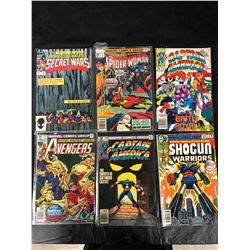 MARVEL COMIC BOOK LOT (SECRET WARS, AVENGERS, SPIDER-WOMAN, CAPTAIN AMERICA & MORE)