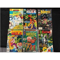 MIXED COMIC BOOK LOT (SILVER SURFER, HULK, FANTASTIC FOUR, PHANTOM)