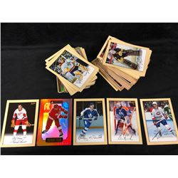 "BEEHIVE HOCKEY TRADING CARDS LOT (5"" X 7"") 100+ CARDS"