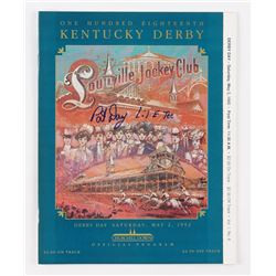 1992 PAT DAY AUTOGRAPHED OFFICIAL KENTUCKY DERBY PROGRAM