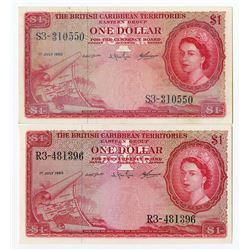 British Caribbean Territories, Eastern Group, 1960 Banknote Pair.