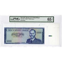 Banque De La Republique Du Burundi, ND (1968-73) Specimen/Proof Banknote.