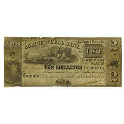 Agricultural Bank, 1835 Issued Obsolete Banknote.