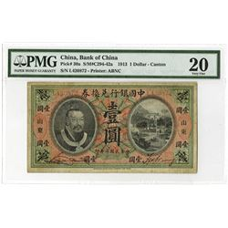 "Bank of China, 1913 ""Canton"" Branch Issue."
