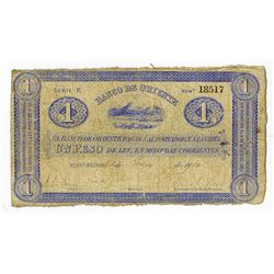 Banco de Oriente, 1900, Issued Note.