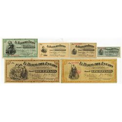 El Banco Del Estado, 1900 Regular Issue banknote Assortment.
