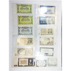 Assorted European Issuers. 1790s-1990s. Group of 72 Issued Notes.