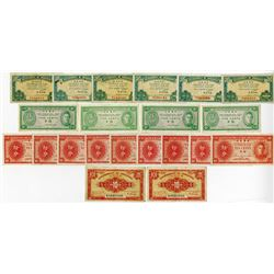 Government of Hong Kong, 1941 and 1945 Issue Banknote Assortment.