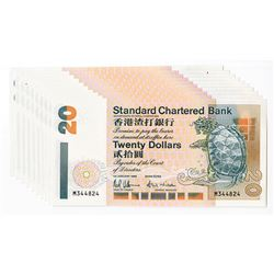 Standard Charter Bank, 1994 Issued Sequential Group of 10 Notes.