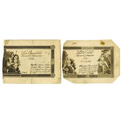 Kingdom of Sardinia, 1799, Pair of Issued Notes