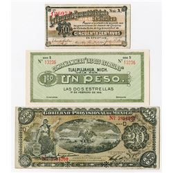 Mexico Revolutionary and Banco De Mexico Banknote Assortment, ca.1913-1977.