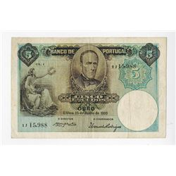 Banco de Portugal, 1920, Issued Note.