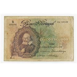 Banco de Portugal, 1921, Issued Note.