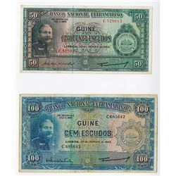 Banco Nacional Ultramarino, 1964, Issued Pair.