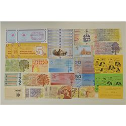 Group of Russian Banknotes
