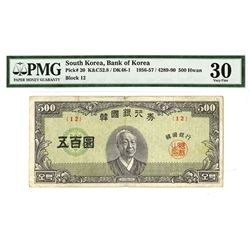 Bank of Korea, 4290 (1957) Issued Banknote.
