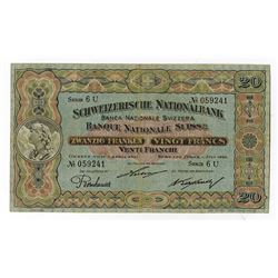 Banque Nationale Suisse, 1922, Issued Note.