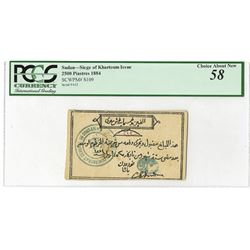 General Gordon Pasha, 1884, Issued Siege of Khartoum Note.