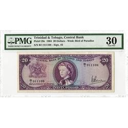 Central Bank of Trinidad & Tobago, 1964 Issued Banknote.