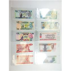 Assorted African Issuers. 1910s-1990s. Group of 34 Issued Notes.