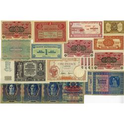 Worldwide Banknote Assortment, ca.1912-1960's.