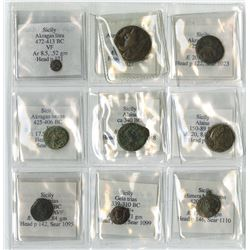 Sicily Ancient Coin Assortment, ca.472 BC to 310 BC.