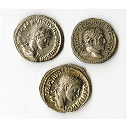 Roman Empire, 2nd-3rd Century AD, Trio of Coins.