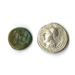 Roman Empire, 2nd-4th Century BC, Pair of Coins.