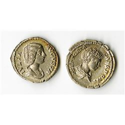 Roman Empire, 3rd Century AD, Pair of Coins.