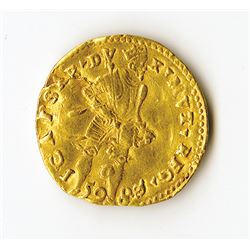 Italy, 1598, Gold  Ongaro Coin issued under Duke Cesare d'Este of Modena.