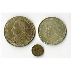 Italy, 1780-1848, Trio of Coins