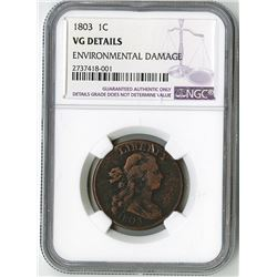 United States Mint, 1803 Large Copper Cent.