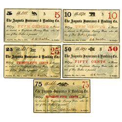 Augusta Insurance & Banking Co., 1863 Banknote Assortment.