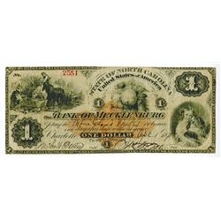 Bank of Mecklenburg, 1875 Obsolete Banknote with Imprinted Revenue RN-D2.