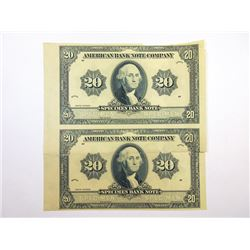 American Bank Note Co., 1920 (ca.1960-70) Advertising  Specimen Bank Note  Pair.