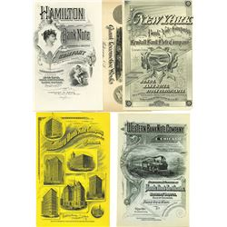 Security Printer Advertising Sheets, ca.1880-1890's from Poor's Manuals.